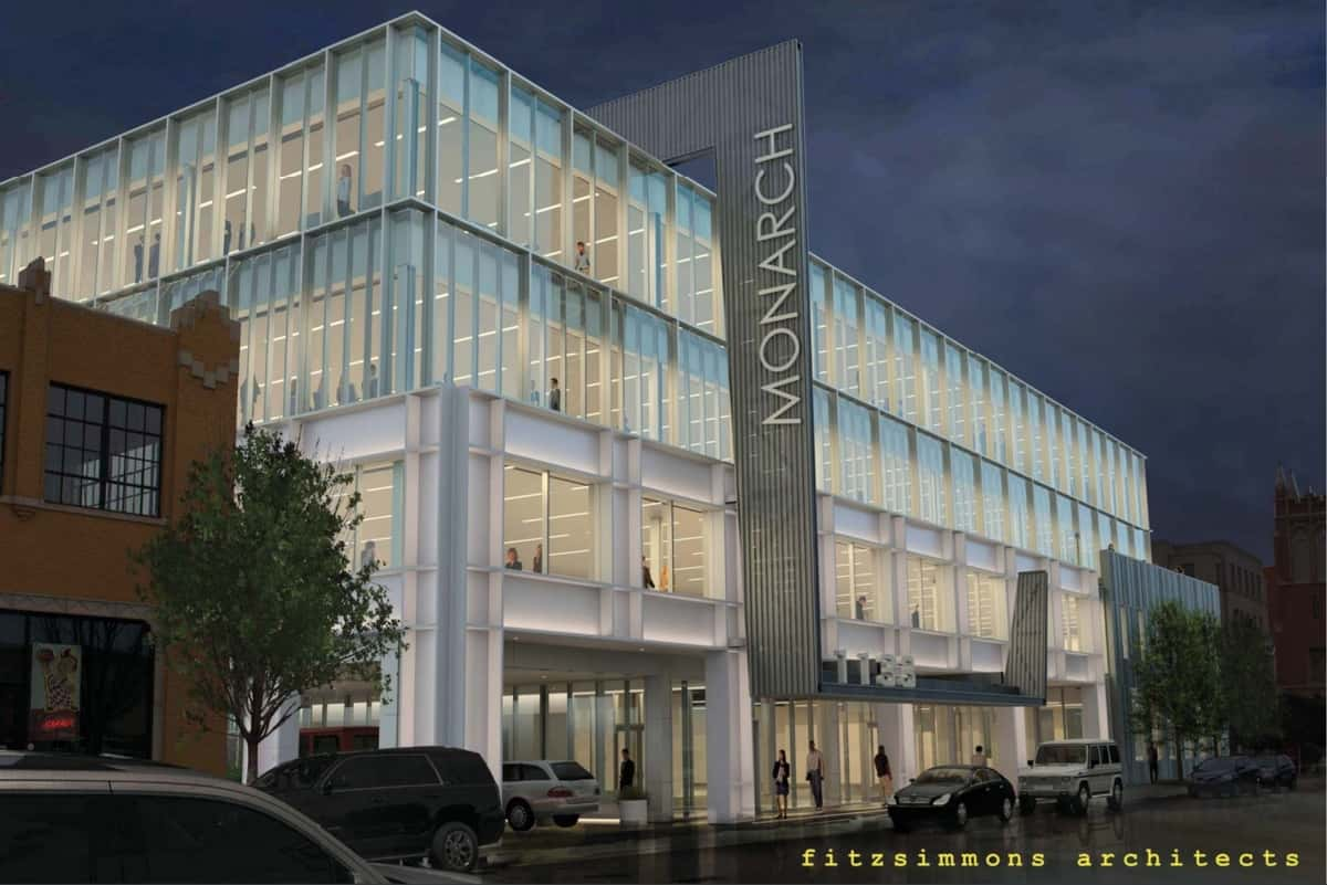 Rendering of The Monarch, courtesy of Fitzsimmons Architects