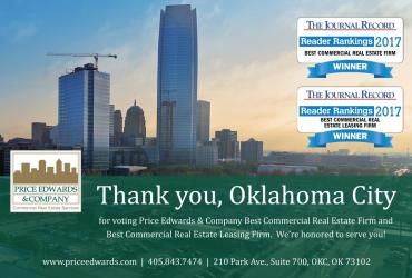 Price Edwards Named Best Commercial Real Estate Firm by the Journal Record Reader Rankings