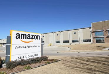 Photo of Amazon's Oklahoma City Distribution Center
