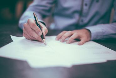 Stock Image of Lease Signing