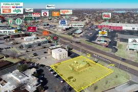 Former Long John Silvers paid site ground lease aerial