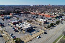 Alameda Square retail space for lease Norman, OK aerial view
