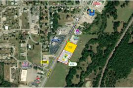 Shoppes at Atoka retail space for lease, Atoka, OK aerial