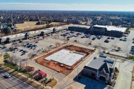 Chatenay Square retail space for lease, Oklahoma City, OK aerial