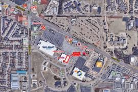 Retail space for Lease adjacent to Kohl's on NW Expressway, Oklahoma City, Ok aerial