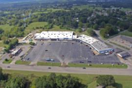 Eastgate Shopping Center retail for lease, Sallisaw, OK aerial
