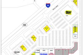 Midtown Village retail pad sites for lease site plan