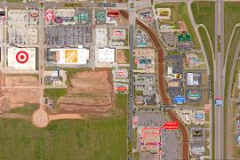 Retail space for Lease adjacent to Kohl's on Telephone Rd, Moore, Ok aerial