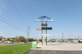 Former Homeland - 122nd & N May retail space for lease pylon