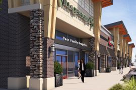 Sycamore Plaza retail space for lease exterior rendering
