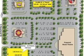 The District retail building for pre-lease in Enid, Ok site plan