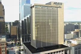 Arvest Tower - 201 Robert S Kerr Office Space for Lease Aerial