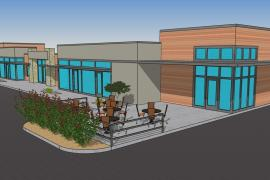 Yukon Crossing retail space for lease-rendering
