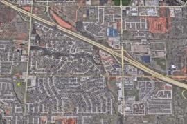 Aerial of land for sale at Czech Hall Road and West Reno