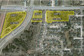 Land at Covell and Broadway for sale Edmond, OK aerial