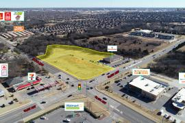 Aerial of Jackson Creek retail land for sale at S/E corner of NW 164th & N Western Ave , Oklahoma City