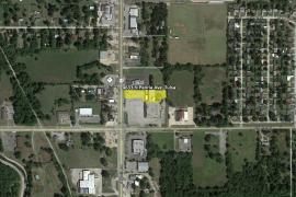 Retail land -0.87 Acres for Sale- E 46th St N & N Peoria Ave-Tulsa, OK aerial