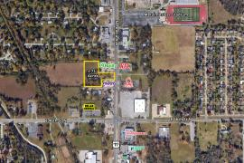retail land for sale Tulsa, Ok - retailer aerial