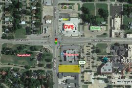 Retail/Office Land / Pad Site for Sale - Owen K Garriott & S Van Buren, Enid, Ok - aerial