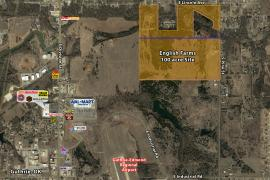 English Farms - industrial, residential, raw land for sale Guthrie, OK aerial