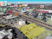 Former Long John Silvers paid site ground lease Oklahoma City, OK aerial