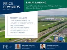 Lariat Landing rendering retail land for lease South Oklahoma City