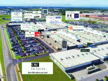 OKC Outlets retail space available Oklahoma City, OK aerial