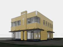 Morgan Building - 1st Floor office space for lease rendering