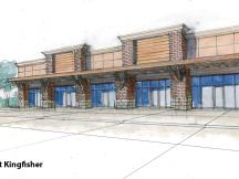 The Suites at Kingfisher retail space for lease rendering
