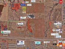 Retail Pad Site for Sale N Rockwell South of NW 150th Oklahoma City Aerial