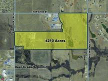 NW 220th and Meridian Land for Sale - Aerial