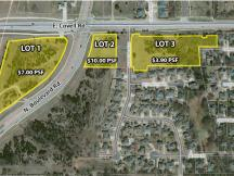 Land at Covell and Broadway for sale aerial