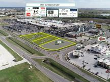 OKC Outlets pad sites available for lease sale or Build to Suit aerial Oklahoma City, OK