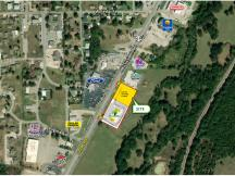 1626 S Mississippi Ave, Atoka, OK retail pad site for sale aerial