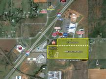 E 7th St & S Eastern Ave, Elk City, OK land for sale aerial