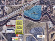 Retail lots for sale on N Martin Luther King Ave aerial
