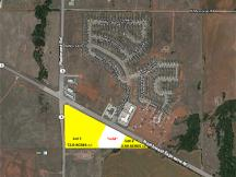 14.5 acres for Sale - Lot 1 & Lot 2 Retail / Office land for sale- Piedmont Rd & NW Expwy-Yukon- aerial