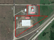 Aerial of site - 1508 Hat Powell Rd, Caddo, Ok - land for sale
